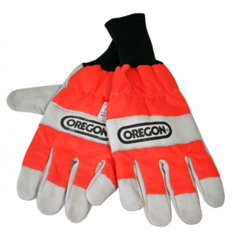 Machine Mart Xtra Oregon Chainsaw Gloves With Left Hand Protection Size 8 Small
