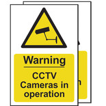 CCTV In Operation Signs (Pack Of 2)