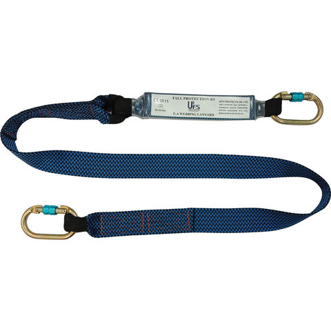 Image of Talurit UFS PROTECTS UT827 1.8m Energy Absorbing Webbing Lanyard 2 x Carabiners