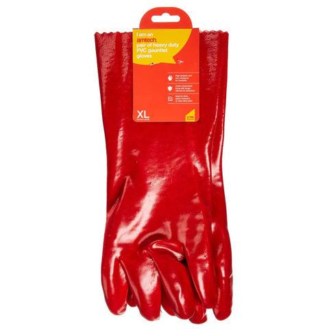Amtech Amtech N2410 Pvc Red Gauntlet Glove Xl