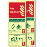 Photo-Luminescent Fire Blanket Signs (Twin Pack)
