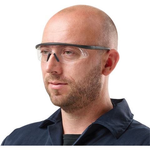 Clarke Clarke Scs1 Clear Safety Glasses With Adjustable Arms