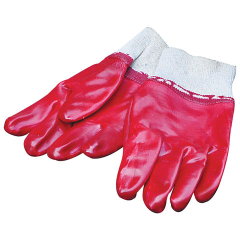 Machine Mart Red Rubber Gloves One Size