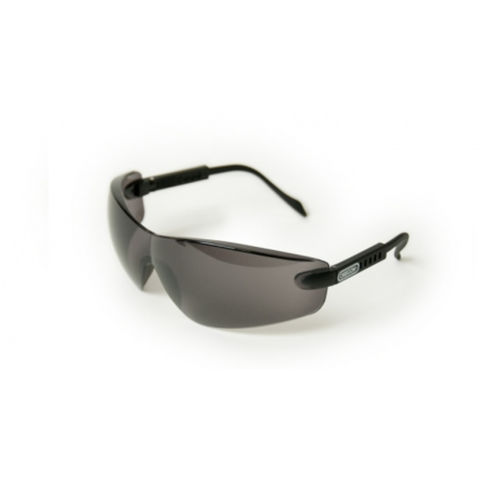 Image of Machine Mart Xtra Oregon Black Lens Safety Glasses With Black Frame