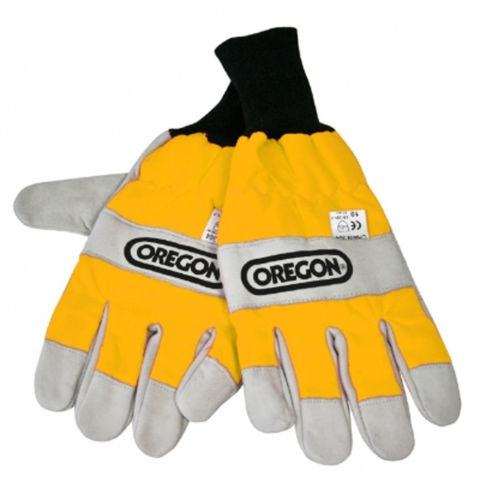 Machine Mart Xtra Oregon Chainsaw Gloves With Two Handed Protection Medium