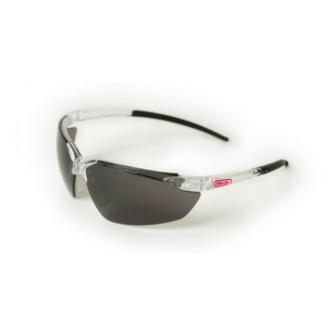 Image of Machine Mart Xtra Oregon Black Lens Safety Glasses With Clear Frame