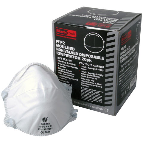Image of Rodo Moulded Non-Valved Disposable FFP2 Respirators