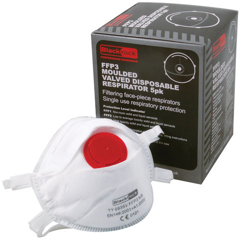 Image of Rodo Moulded Valved Disposable FFP3 Respirator- 5 Pack