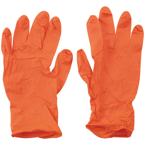 Image of Machine Mart Grippaz Pack of 50 Heavy Duty Silicon Free Gloves (Large)