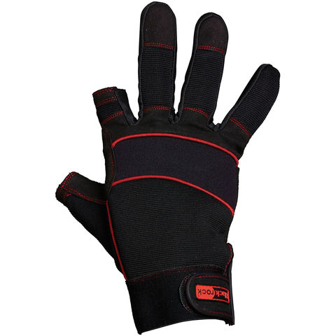 Image of Rodo Blackrock Open Finger and Thumb Machine Gloves