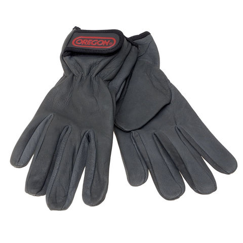 Machine Mart Xtra Oregon Black Leather Work Gloves Medium