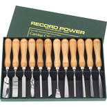 Record Power RPCV12A 12 Piece Carving Chisel Set