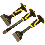 Roughneck 3 Piece Bolster & Chisel Set