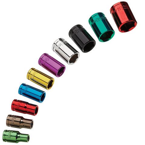 "Image of Clarke Pro Clarke PRO338 10 Piece Colour Coded Socket Set – 1/4"" Drive"