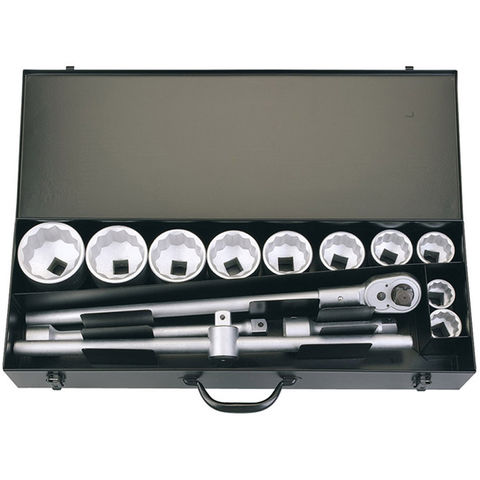 "Image of Elora Elora 780-10M 15 Piece 1"" Sq. Dr. Metric Socket Set"