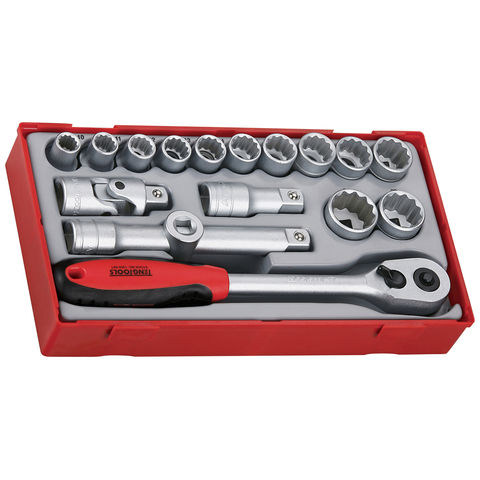 "Teng Teng TT1218 17 Piece 1/2"" Sockets & Accessories"