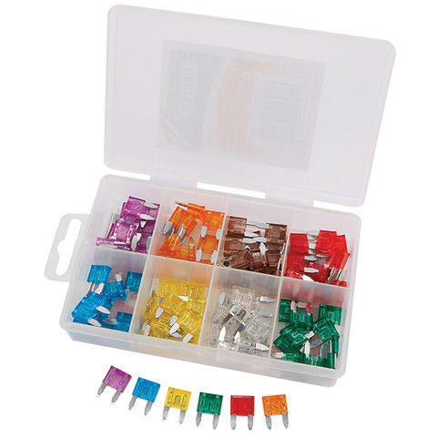 Image of Draper Draper 100 Piece Mini Automotive Plug-In Fuse Assortment