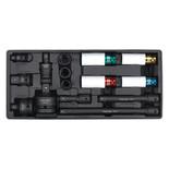 Laser Tools 7041 Deep Impact Socket Set 10pc 1//2 Drive 12 Point Sockets