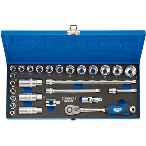 Image of Draper Draper 3/8'' Drive Metric 27 Piece Socket Set