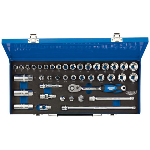 Image of Draper Draper D40M/MC/SG 3/8'' Drive 40 Piece Combined MM/AF Socket Set Draper D40M/MC/SG 3/8'' Drive 40 Piece Combined MM/AF Socket Set 111