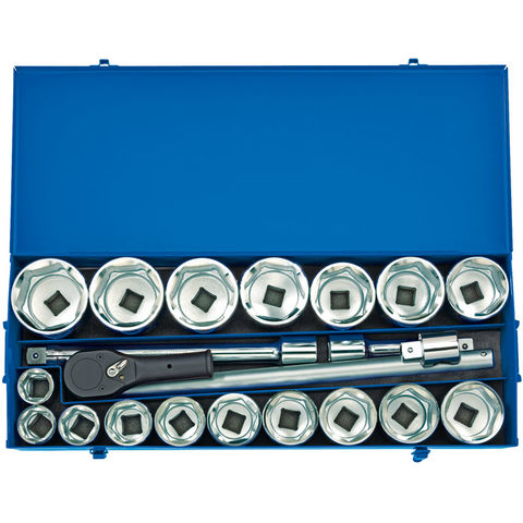 Image of Draper Draper MC22M/B 1'' Drive 22 Piece Metric Socket Set