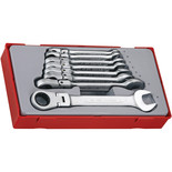 Teng TT6508RF 8 Piece Flexible Ratcheting Combination Spanner Set