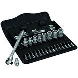 "Wera 8100 SA 7 28 piece Zyklop Metal-Push Ratchet Socket Set 1/4"" drive"