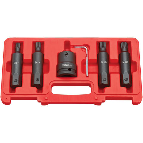 "Image of Clarke Clarke CIS19/5S 5 Piece Impact Spline Bit Socket Set – 3/4"" Drive"
