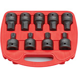 "Clarke CIS19/9S 9 Piece Impact Spline and Hex Bit Socket Set –3/4"" Drive"