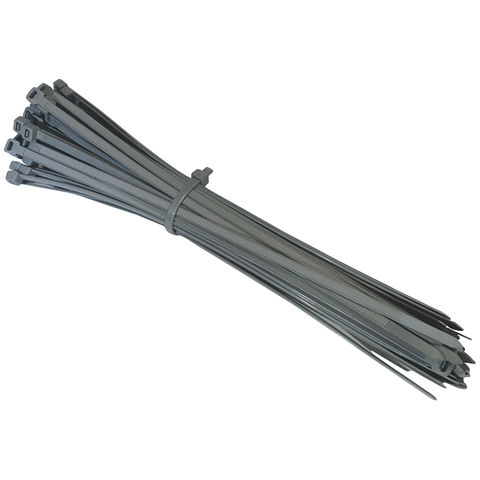 Image of Machine Mart 50 Pack Silver Cable Tie Set 250mm