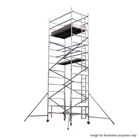 Image of UTS UTS 18DW22 500 2.2m Platform Industrial Scaffold Tower Double Width