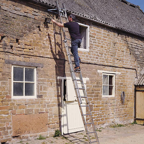 Image of Machine Mart Xtra Youngman 3-Section Ladder 2.50 - 5.69m