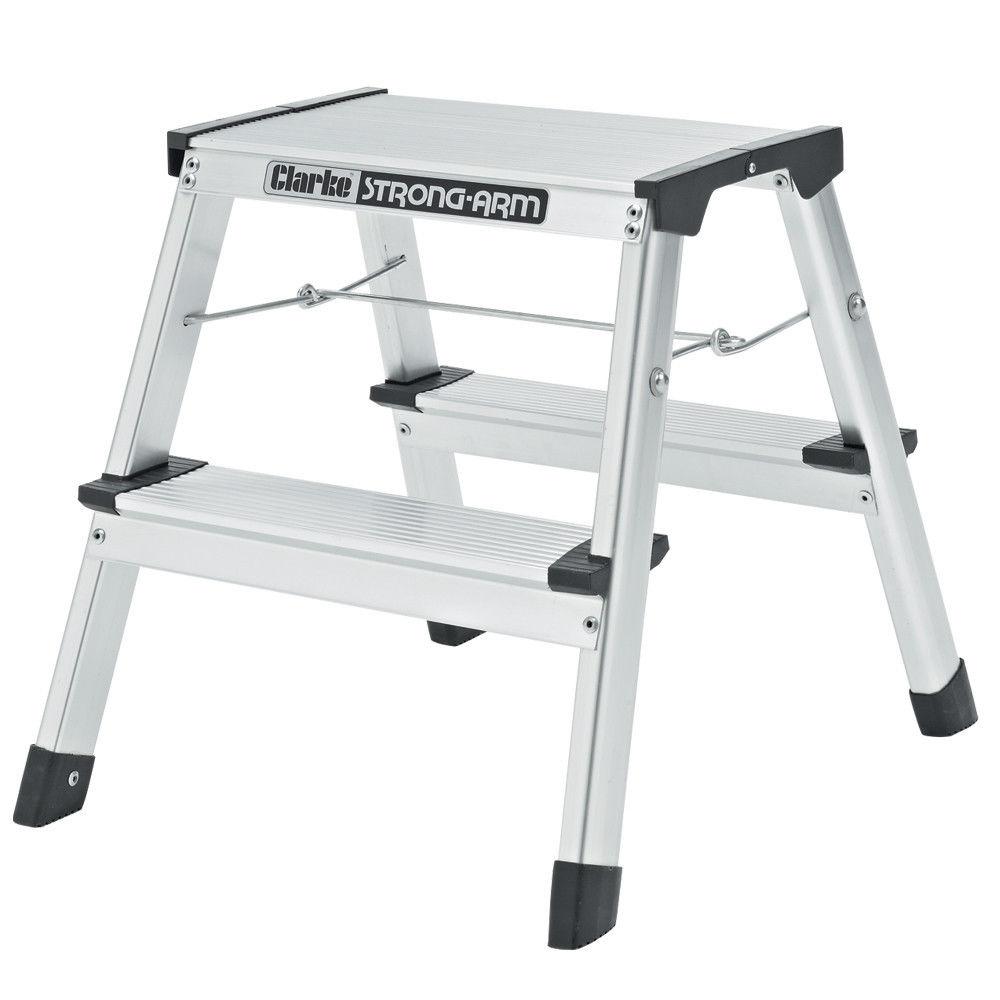 Miraculous Clarke Fwp 1 2 Tread Step Ladder Machine Mart Machine Theyellowbook Wood Chair Design Ideas Theyellowbookinfo