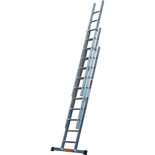 TB Davies 2.5m Pro Trade 3 Section Extension Ladder with Stabiliser Bar