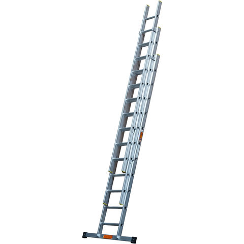 Image of T. B. Davies TB Davies 3m Pro Trade 3 Section Extension Ladder with Stabiliser Bar