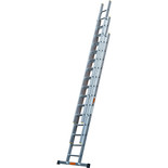 TB Davies 3.5m Pro Trade 3 Section Extension Ladder with Stabiliser Bar