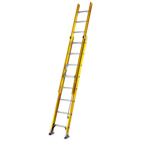 Image of Werner Werner 2.5m Alflo Fibreglass Trade Double Extension Ladder