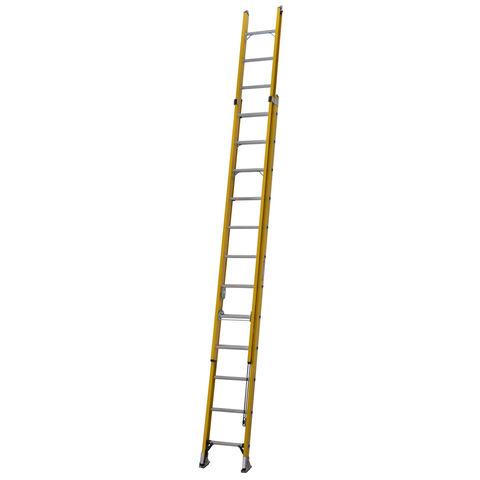 Image of Werner Werner 3.5m Alflo Fibreglass Trade Double Extension Ladder