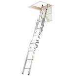 Werner 3 Section Loft Ladder with Handrail