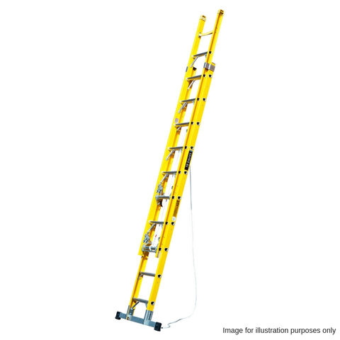 Image of T. B. Davies TB Davies 3.8m 2 Section Fibreglass Extension Ladder with Stabiliser