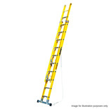 TB Davies 3.8m 2 Section Fibreglass Extension Ladder with Stabiliser