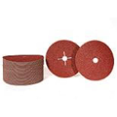 Image of National Abrasives 178mm P120 Fibre Backed Sanding Discs 5 Pack