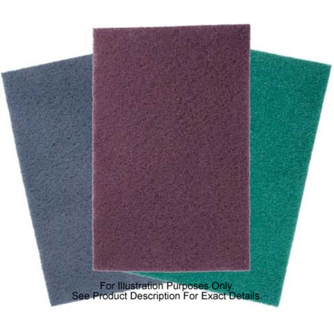Image of National Abrasives Abrasive Pads - 250 x 125mm Black 5 Pack
