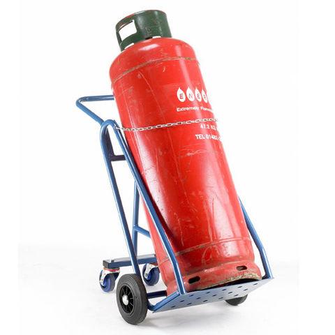 Image of Barton Storage Barton 47kg Propane Cylinder Trolley with Rear Wheels
