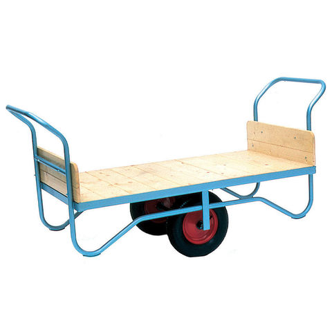 Image of Machine Mart Xtra Barton Storage BT/9131/CT/RB Double Handle Flatbed Trolley With Rubber Wheels