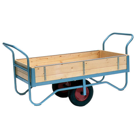 Image of Machine Mart Xtra Barton Storage BT/9122/PT/RB Double Handle Four Sided Trolley With Pneumatic Wheels