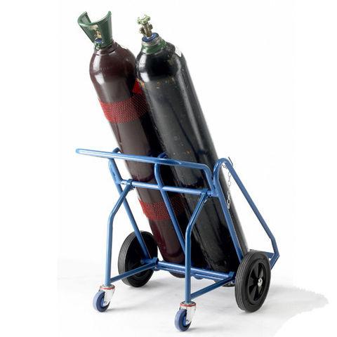 Image of Barton Storage Barton Oxygen Acetylene Cylinder Trolley with Rear Wheels