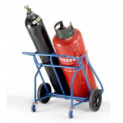 Image of Barton Storage Barton Oxygen Propane Cylinder Trolley with Rear Wheels