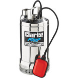 "Clarke CWP1000A 1½"" 1100W 350Lpm 9.5m Head Heavy Duty Submersible Clear Water Pump with Float Switch (230V)"
