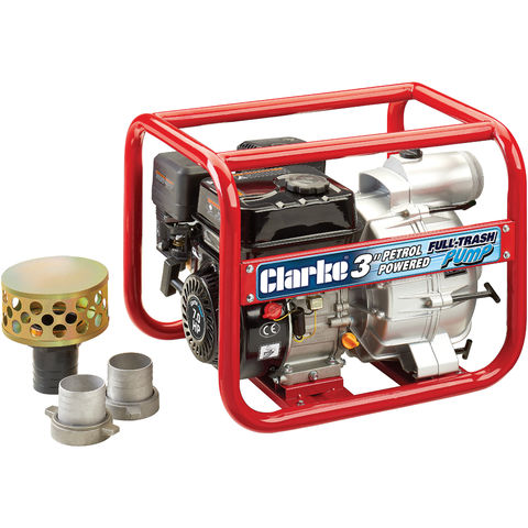 "Image of Clarke Clarke PF75 Petrol Powered 3"" Full-Trash Water Pump"